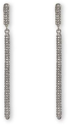 Vince Camuto Jewelry Silvertone Pave Drop Clip-on Earrings