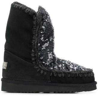 Mou sequinned eskimo boots