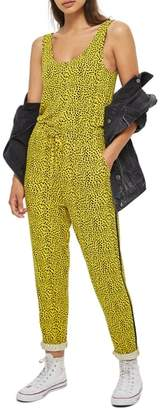 Topshop Animal Dot Jumpsuit