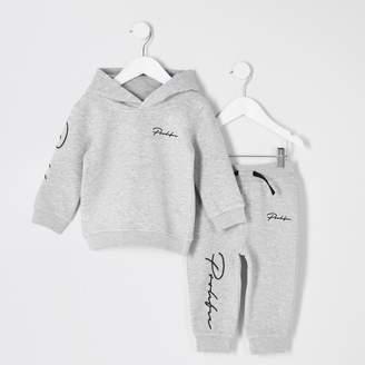 5bc02a8a7 River Island Mens Mini boys Grey 'Prolific' hoodie outfit