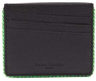 Maison Margiela Grained Leather Cardholder - Mens - Black