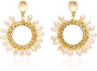 Brinker & Eliza Clementine 24K Gold-Plated Glass Pearl Earrings