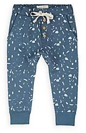 Little Indians Infants' Paint-Splatter-Detailed Cotton Sweatpants - Blue