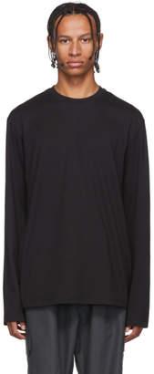 Y-3 Y 3 Black Toketa Print Long Sleeve T-Shirt