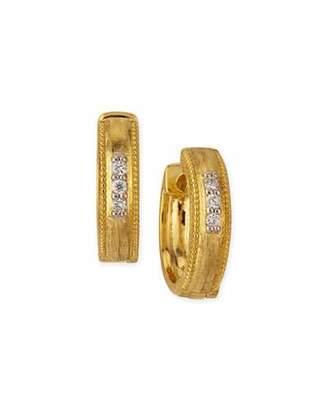 Jude Frances Lisse Small 18K Gold Hoop Earrings w/ Diamonds