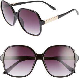 BP 59mm Metal Detail Square Sunglasses