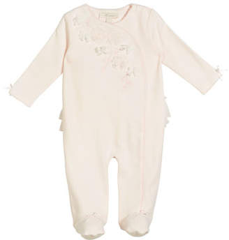 Miniclasix Rosettes, Ruffle & Pico Footed Coverall, Size 3-9 Months