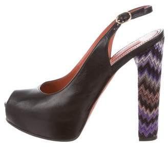 Missoni Slingback Platform Sandals