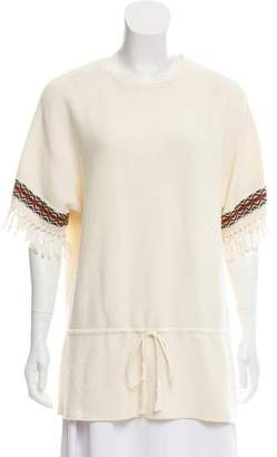Tory Burch Textured Knit Top