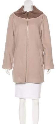 Loeffler Randall Wool Zip-Up Jacket