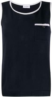 Salvatore Ferragamo contrast trim knitted top