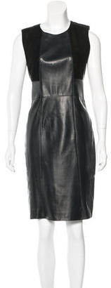 Belstaff Leather Sleeveless Dress $195 thestylecure.com