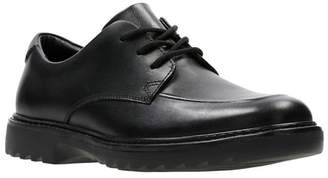 Clarks - Boys' Black Leather 'Asher Grove' Lace-Up School Shoes