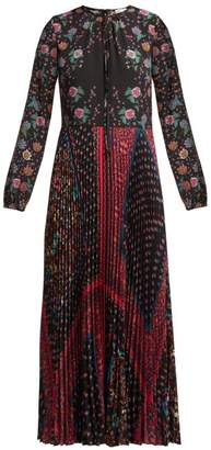 RED Valentino Floral Print Maxi Dress - Womens - Black Multi