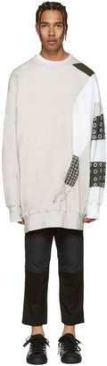 J.W. Anderson SSENSE Exclusive Grey Kelly Beeman Edition Oversized Graphic Pullover $360 thestylecure.com