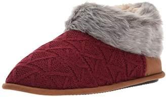 Dearfoams Women's Textured Knit Bootie w Pile