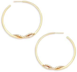Lana Women's Flawless Knot Diamond and 14K Yellow Gold Hoop Earrings