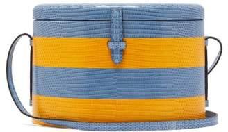 Hunting Season - Trunk Striped Lizard Skin Shoulder Bag - Womens - Blue Multi