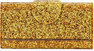 Edie Parker Large Lara Glitter Iceless Clutch Bag