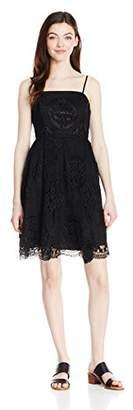 Soprano Juniors Women's Lace Strapless Skater Dress