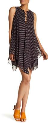 Derek Lam 10 Crosby Lace Up Handkerchief Dress