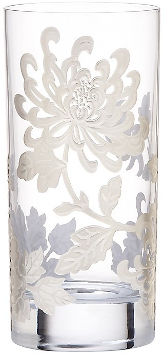 """Marchesa by Lenox """"Painted Camellia"""" Highball Glass"""