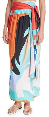 Mara Hoffman Cora Convertible Coverup Wrap Maxi Skirt/Dress