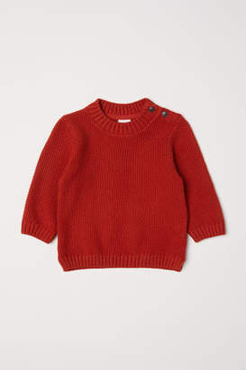 H&M Purl-knit Sweater - Orange