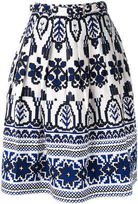 Samantha Sung flared printed skirt
