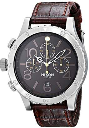 Nixon Men's A3631887 48-20 Chrono Leather Watch
