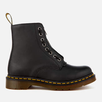 Dr. Martens Women's 1460 Pascal Front Zip Arcadia Leather 8-Eye Boots