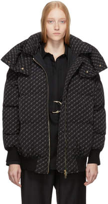 Stella McCartney Black Monogram Puffer Jacket