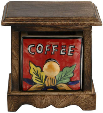 Kindwer Curios Coffee Drawer Wood Apothecary Accent Chest