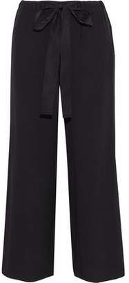 RED Valentino Silk Crepe De Chine Wide-Leg Pants