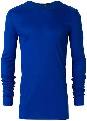 Unconditional ribbed crew neck top