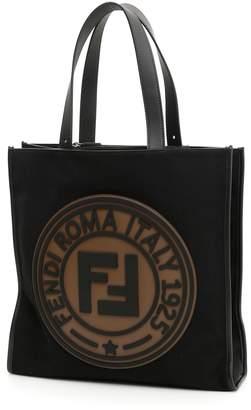 Fendi Logo Canvas Tote Bag