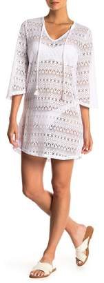 Hawaiian Tropic Crochet Knit Lace Cover Up