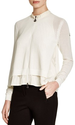 Moncler Mixed Media Layered-Look Cardigan $540 thestylecure.com
