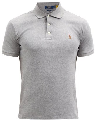Polo Ralph Lauren Slim Fit Cotton Polo Shirt - Mens - Grey