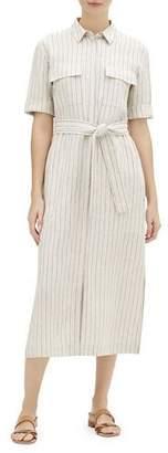 Lafayette 148 New York Doha Sundance Stripe Short-Sleeve Shirtdress