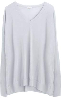 Cuyana Cotton Cashmere V-Neck Sweater