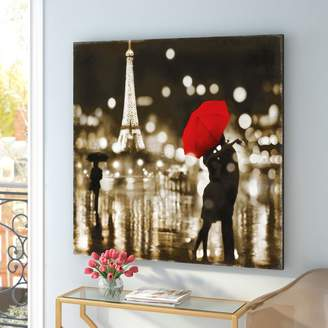 East Urban Home 'A Paris Kiss' Photographic Print on Canvas