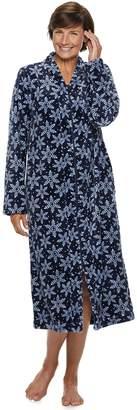 Croft & Barrow Petite Plush Zip Robe