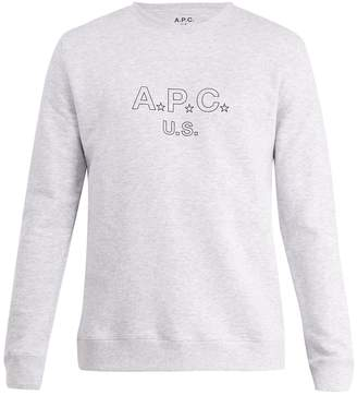 A.P.C. US Star and logo-print cotton-blend sweatshirt