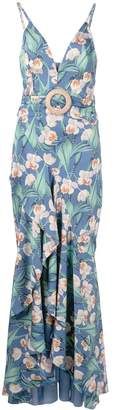 PatBO belted maxi dress