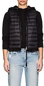 Moncler Women's Ruffled-Hem Down-Quilted Vest - Black