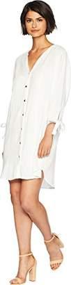 Splendid Women's Button-Up 3/4 Sleeve Shirt Dress