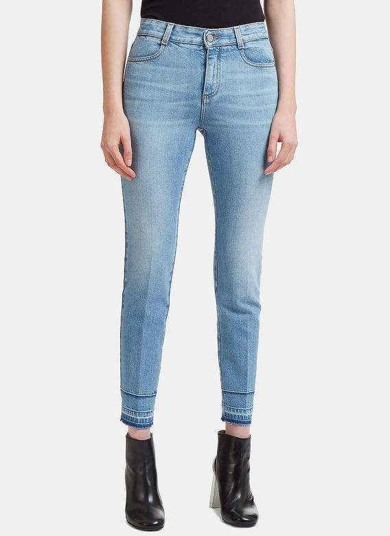 High-Waisted Skinny Fit Jeans in Blue