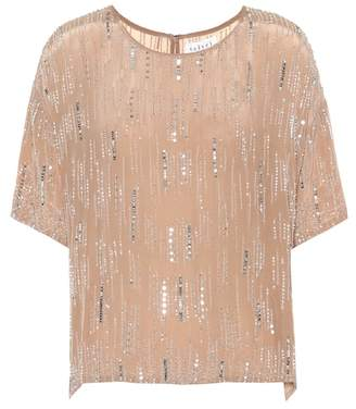 Velvet Brighton sequinned crêpe top