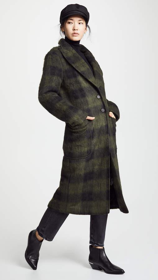 Twenty Tees Walker Plaid Long Coat